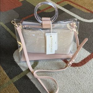 NWT🌸Madison West Los Angeles clear bag🌸